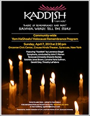 kaddish at the civic center, syracuse, nh
