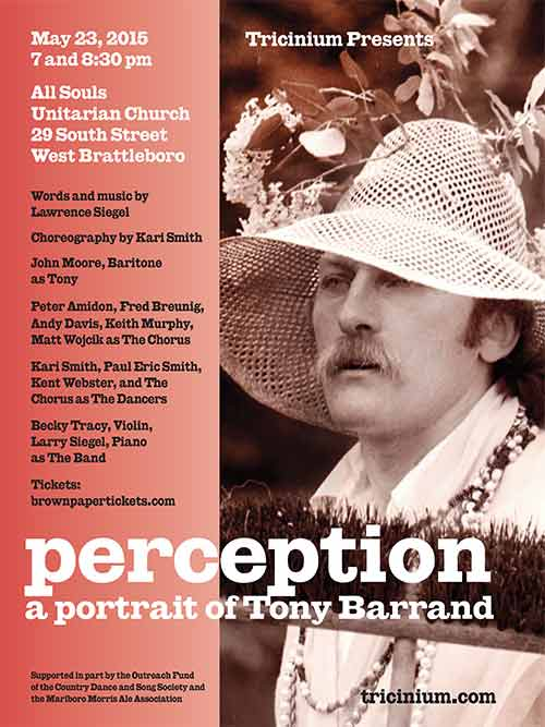perception, a cabaret opera and portrait of tony barrand